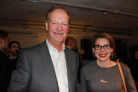City of Edmonton's chief planner Peter Ohm and planning director Kalen Anderson at The Yards Spring Salon (March 10/16)