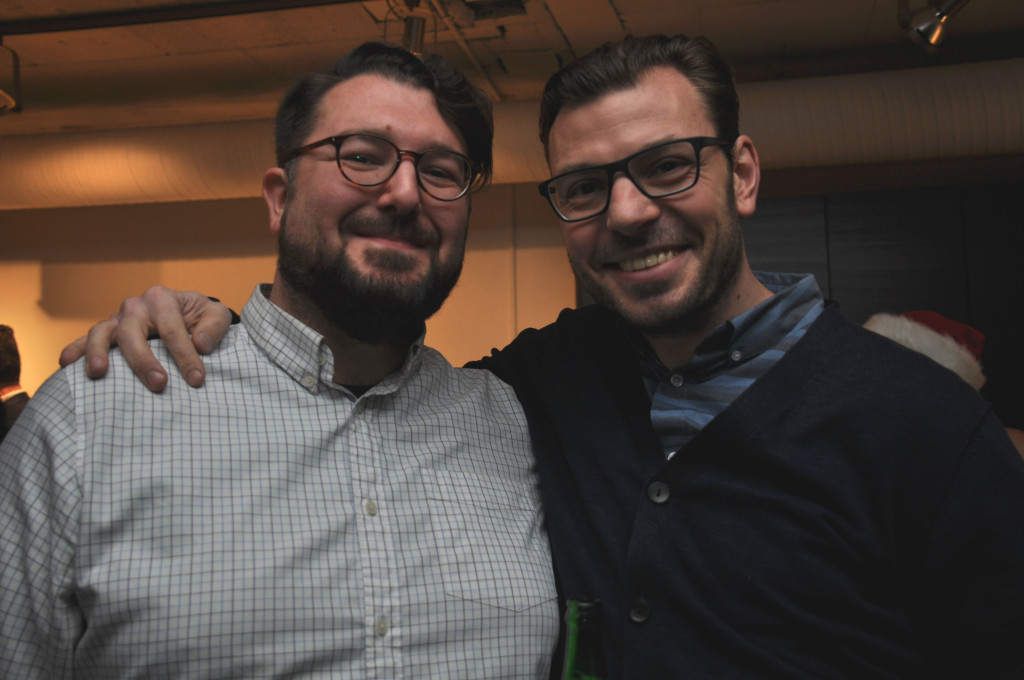 "Douglas ""Dollars"" and Vedran Skopac at The Yards Best in the Core party (Dec. 2/15)"