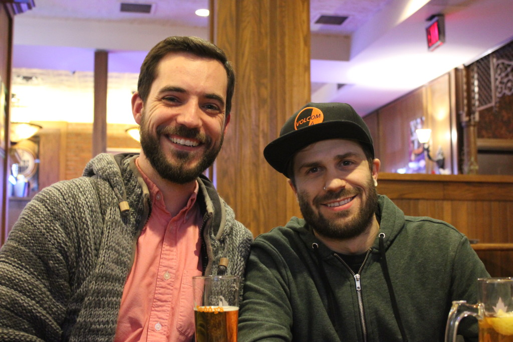 Danny Hoyt and Brandon Campbell at the Oliver Pub Crawl (Feb. 18/16)